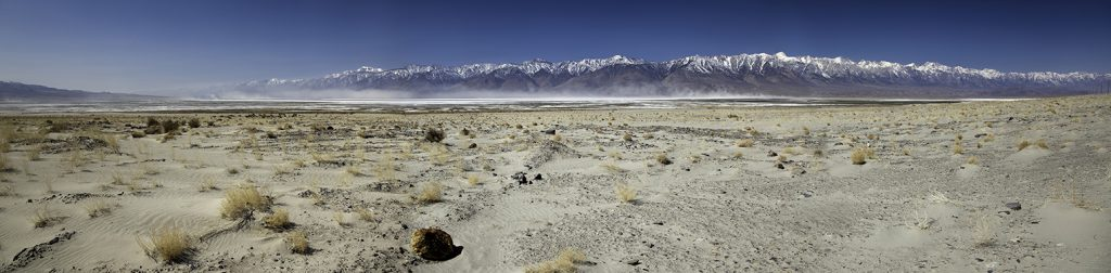 panorama of owens lake